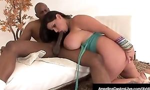 BJ Princess Angelina Castro Fucks Royal Negroid Cock!