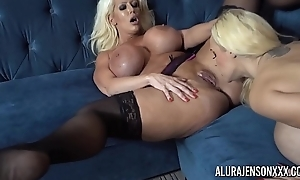 Alura and her prex lesbian friend Dolly obtain naughty