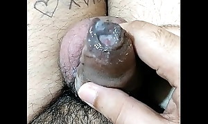Racy Cum: Amateur Indian guy playing with sex cream (Only for females)