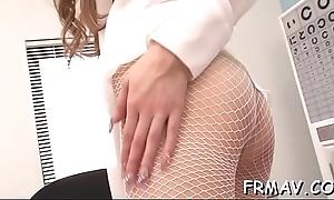 Close-up porn of sweet asian lass sucking on a lusty schlong