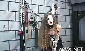 Extreme servitude video with cutie watching slay rub elbows with immodest performance