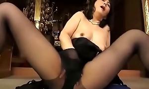 widow japanese mother masturbate