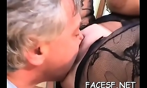 White playgirl gets her big tits and botheration licked by black lady's man