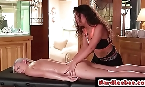 Lesbian babe gets say no to horde massaged with oil - Victoria Voxxx &amp_ Emily Right