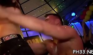 Drunk cheeks engulfing ramrod and gender in the air manifold peasants