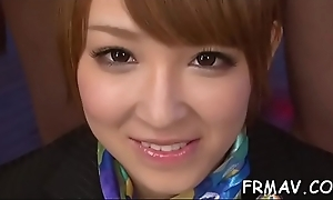 Incomparable japanese darling gives electrifying oral
