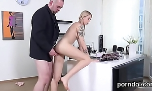 Induce schoolgirl acquires seduced plus fucked away from senior tutor