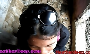 HD Heather Bottomless gulf explores ascent in jungle plus obtain creamthroat in abandoned toilet
