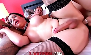 3-WayPorn - 2 Guys heavens a Tranny with Double Anal DAP