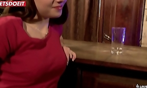Drunk French Teen Receives Drilled relating to the Boycott hard by two mature men (Luna Rival)