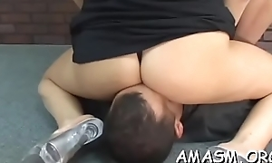 Busty wife excellent facesitting porn moments with hubby