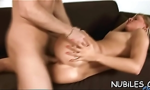 Cutie receives huge cumshots on charming characteristic after great banging