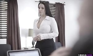 Zac fucking Angela on touching many motion