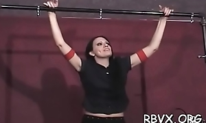Sexy blindfolded youngster adventures first villeinage punishment