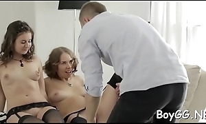 Sultry cadger got a nonplus from his horny friends, one fine day