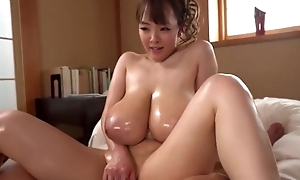 Stunning Oriental girl shows off the brush excellent cock handling skills