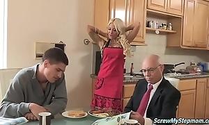 Blonde Milf Sucking a Permanent Wang